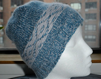 Reversible Fair Isle hat, 100% Cashmere, unisex.