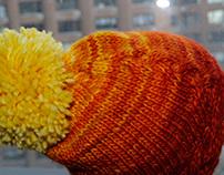 The Christina Set, hat and scarf, 100% merino, unisex.