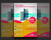 Domain Hosting Flyer Design