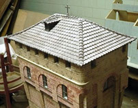 The St. Sava Tower in Hilandar (Greece) model