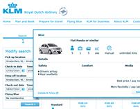 KLM iSeatz integration | Upselling cars, hotels, etc