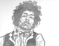 Pencil sketch: Jimi Hendrix