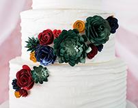 Paper Succulent Cake