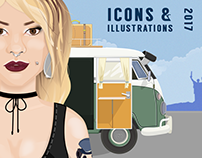 Icons & illustrations 2017