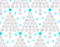 Snowflake Christmas Tree (Christmas Giftwarp/Bag)