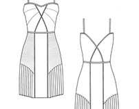 Boudoir and The Powder Room technical drawings