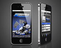 Go-kart Smartphone App graphics