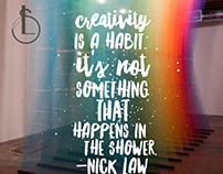 Creativity is a habit
