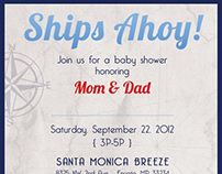Nautical Baby Shower Invitation Template