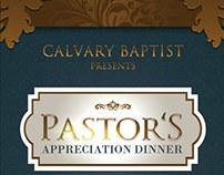 Pastor's Appreciation Dinner Church Flyer and CD