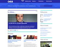 Diseño web del Observatorio Económico de Andalucía