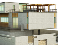3D conceptual model of a contemporary villa