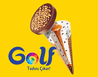 Golf Ice Cream Illustration