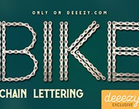 FREE Bike Chain Lettering