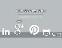 Recreating the Mac-OS-X Dock