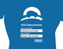 NUX Manchester t-shirt