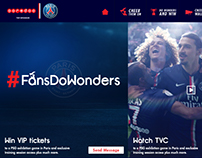 Fans Do Wonders Interactive Microsite
