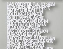 Visual poetry Kurt Tucholsky