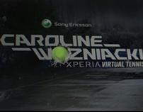 Caroline Wozniacki Experia Virtual Tennis