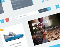 Freebie: Minimalist e-commerce UI kit