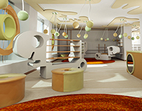 interior design of children's shoes shop