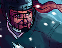 CWHL All-Stars Poster '16 - Along the Boards