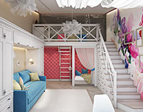 Child's Room Design. 3D Rendering by ArchiCGI