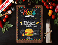 Kids Food Menu Card Template PSD