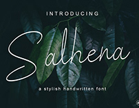 Salhena a stylish handwritten font #fontself