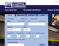 Capitol Corridor UX and UI design