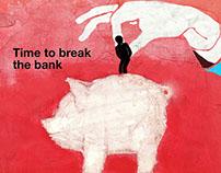 Illustrated The Economist Magazine Cover