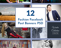 Fashion Facebook Post Banners PSD Template