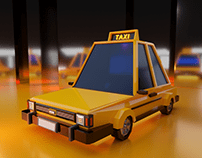 Low-poly Taxi