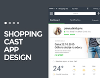 Shopping Broadcast App Design