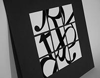 Adobe Caslon Typeface Exploration