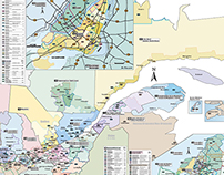 Carte géographique, Hebdos Québec