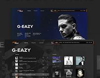 Soundcloud - Design Concept Страница сайта // Website