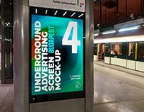 Budapest Underground Ad Screen Mock-Ups 1