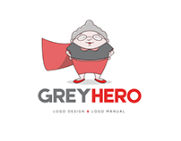Grey Hero Logo Design
