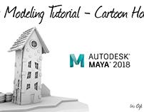 Modeling Tutorial -cartoon House in maya