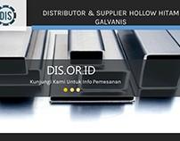 Distributor & Supplier Hollow Hitam Galvanis/Galvanil