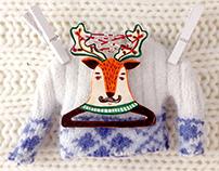 Brooch Deer Hanger
