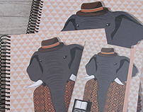 Hipster Elephant_Notebook Illustration