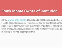 Frank Monte, Centurion: Website Development