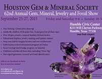 HGMS Gem & Jewelry Show 2015 Marketing Collateral