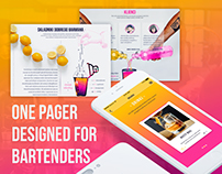 One Pager, Logo and App Design, Shake-Shake, Bartenders