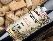 Wine Label Vintage Collage