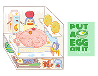 Put A Egg On It: recipe spot illustration