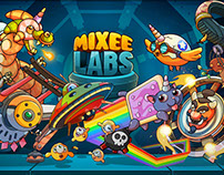 """Mixee Labs"" game character&scenery concept art (2016)."