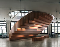 Office with fantastic stairs